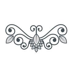 Vintage swirl decoration vector