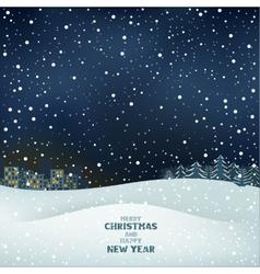 Winter christmas night vector