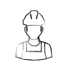 Worker man faceless vector