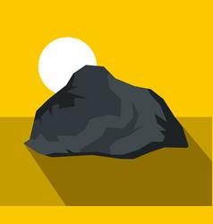 cartoon stone with shadow vector image
