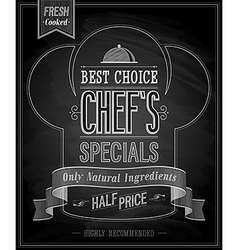 chefs special vector image vector image