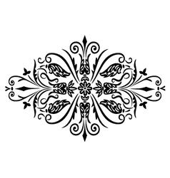 rombus flower ornament vector image vector image