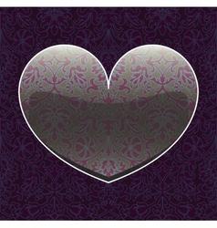 seamless hearts vector image