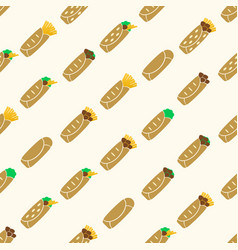 Set of color tortilla food seamless pattern eps10 vector