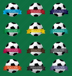 Soccer Ball Banners vector image vector image