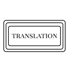 Translation button icon outline style vector image