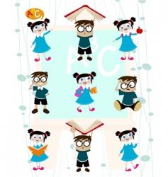 Cute students vector