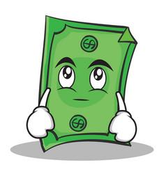 eye roll dollar character cartoon style vector image vector image