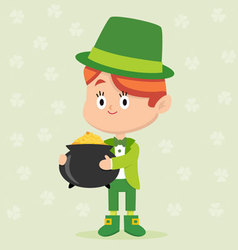 Leprechaun Character Pose vector image vector image
