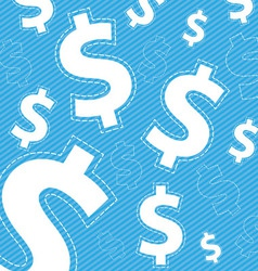money icon on blue background vector image vector image