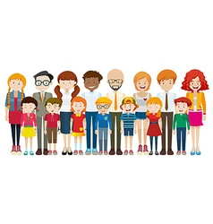 People with happy face vector image vector image