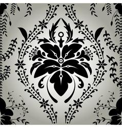 Seamless wallpaper background floral vintage vector image