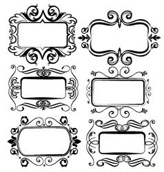 Vintage artistic frames for designs vector image