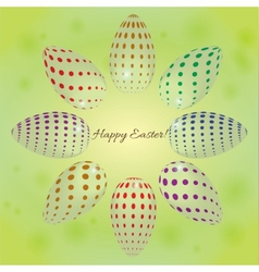 abstract background with colored eggs for Easter vector image vector image