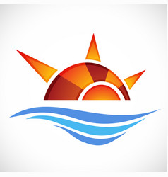 abstract symbol of sun in eps 10 file vector image