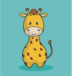 cute giraffe stuffed icon vector image vector image