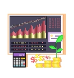 Invest in Shares Concept Icon Flat Design vector image