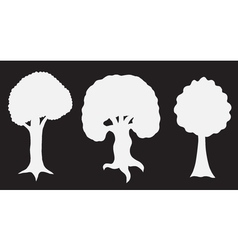 various of tree silhouettes vector image