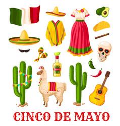 Cinco de mayo mexican holiday celebration icon vector