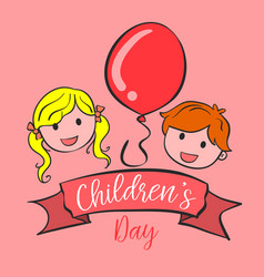 Collection style background childrens day vector