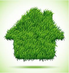 House green grass vector