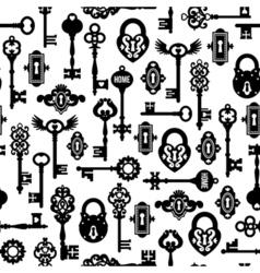 Keys and locks seamless pattern vector