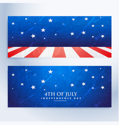 4th july banners set vector image