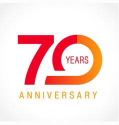 70 anniversary classic logo vector