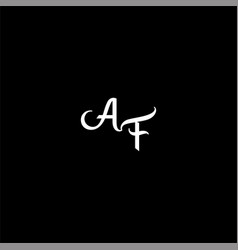 A f letter logo creative design on black color vector