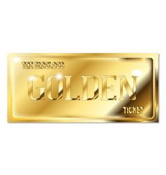 A fabulous golden ticket vector
