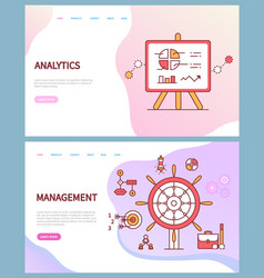 analytics and management business online pages vector image
