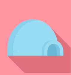 arctic igloo icon flat style vector image