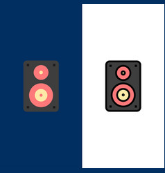 Audio wifi loudspeaker monitor professional icons vector
