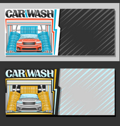 Banners for automatic car wash vector