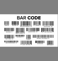 Bar code set universal product scan code vector