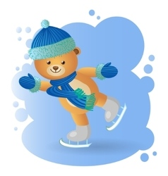 Bear at the rink vector image