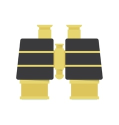 Binocular - gold icon vector