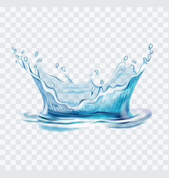 blue water splash vector image