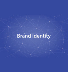 Brand identity white text vector