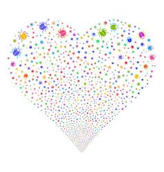 bug fireworks heart vector image