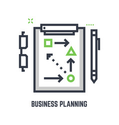 Business planning table vector