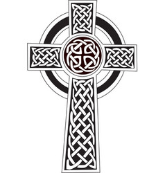 Celtic cross symbol - tattoo or artwork vector