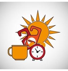 Clock design flat vector image