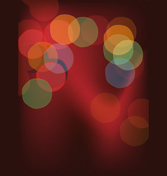 colorful bokeh vector image