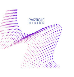 creative abstract particle design vector image