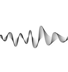 digital sound wave banner background audio vector image