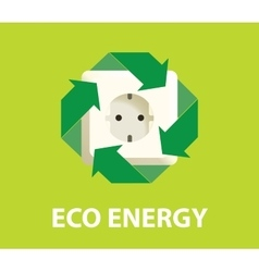 Eco green energy electricity renewable concept vector