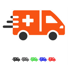 Emergency car flat icon vector