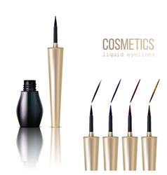 Eyeliner Realistic Set vector image