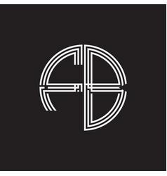 Fb logo monogram triple ribbon style line design vector
